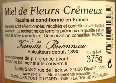 Miel crémeux - Ingredients - fr