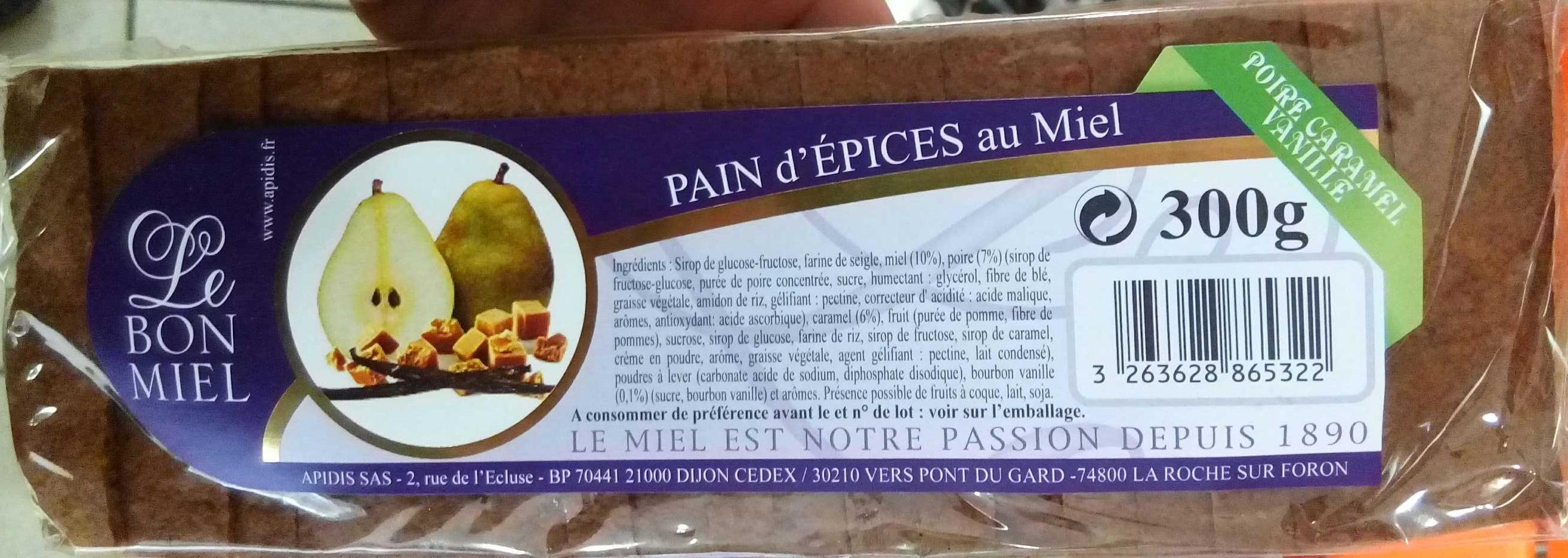 Pain d'épices au miel poire caramel vanille - Product