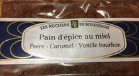 Pain d'épices au miel poire caramel vanille - Nutrition facts