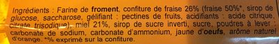 Nonnettes Fourrées Fraise - Ingrédients - fr