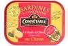 Sardines à l'Ancienne à l'Huile d'Olive vierge extra au Citron - Produit