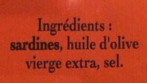 Sardines à l'huile d'olive vierge extra - Ingrediënten