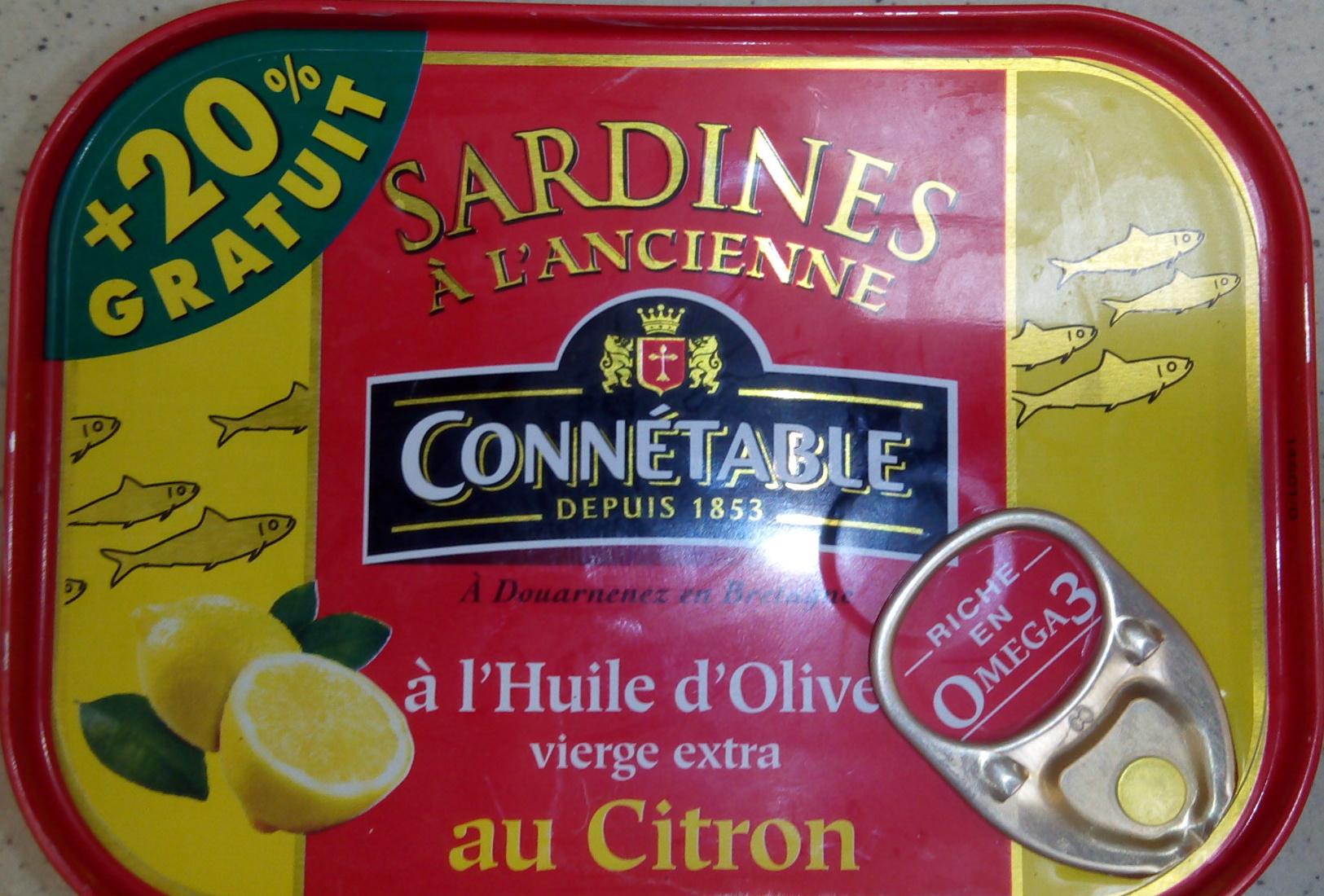 Sardine à l'ancienne à l'huile d'olive vierge extra au citron - Product - fr