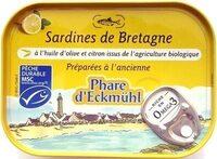 Sardines de Bretagne à l'huile d'olive et citron - Prodotto - fr