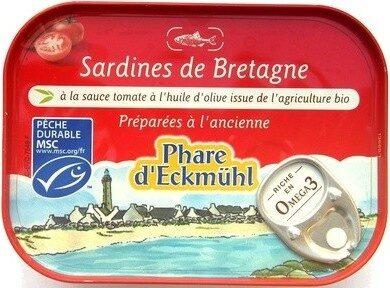 Sardines sauce tomate à l'huile d'olive vierge extra bio - 製品 - fr
