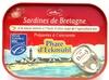 Sardines de Bretagne à la sauce tomate à l'huile d'olive issue de l'agriculture bio - Produit