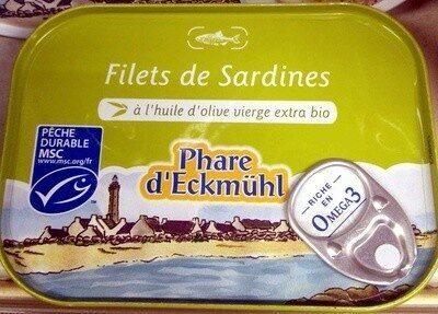 Filets de Sardines à l'huile d'olive vierge extra bio - Product - fr