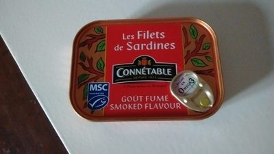 Connetable, Sardine Fillets In Sunflower Oil, Smoked - Product - en