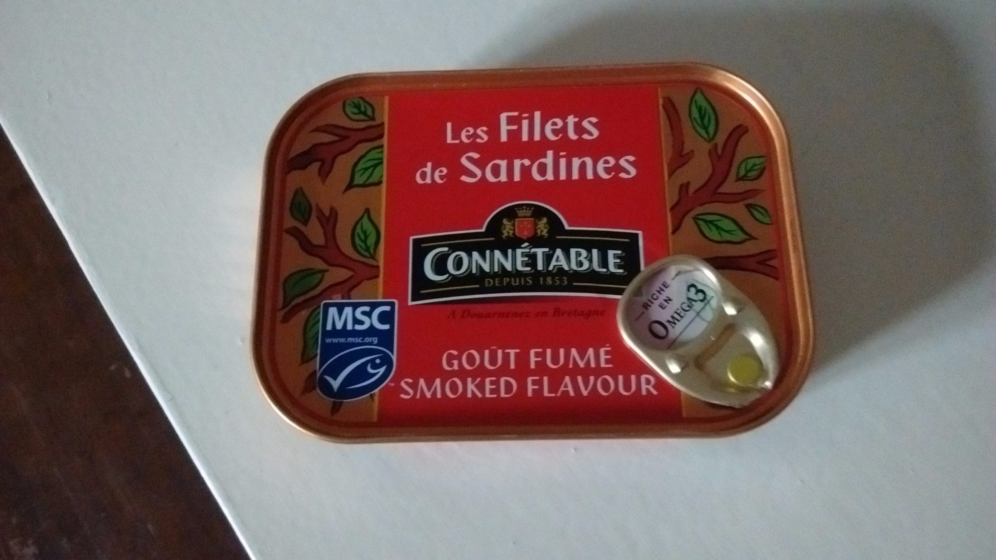 Les Filets de Sardines Goût Fumé - Product