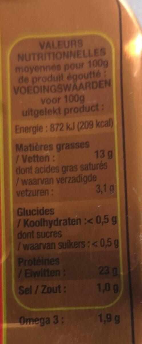 Filets de sardines - Nutrition facts - en