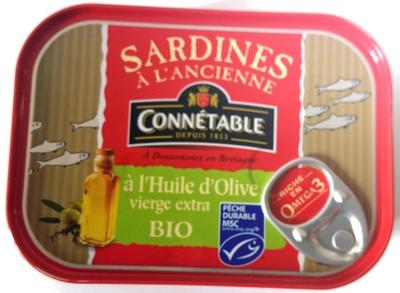 Sardines à l'Ancienne à l'Huile d'Olive vierge extra Bio - Produit
