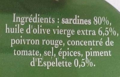 Sardines à l'ancienne au Piment d'Espelette - Ingredients - fr