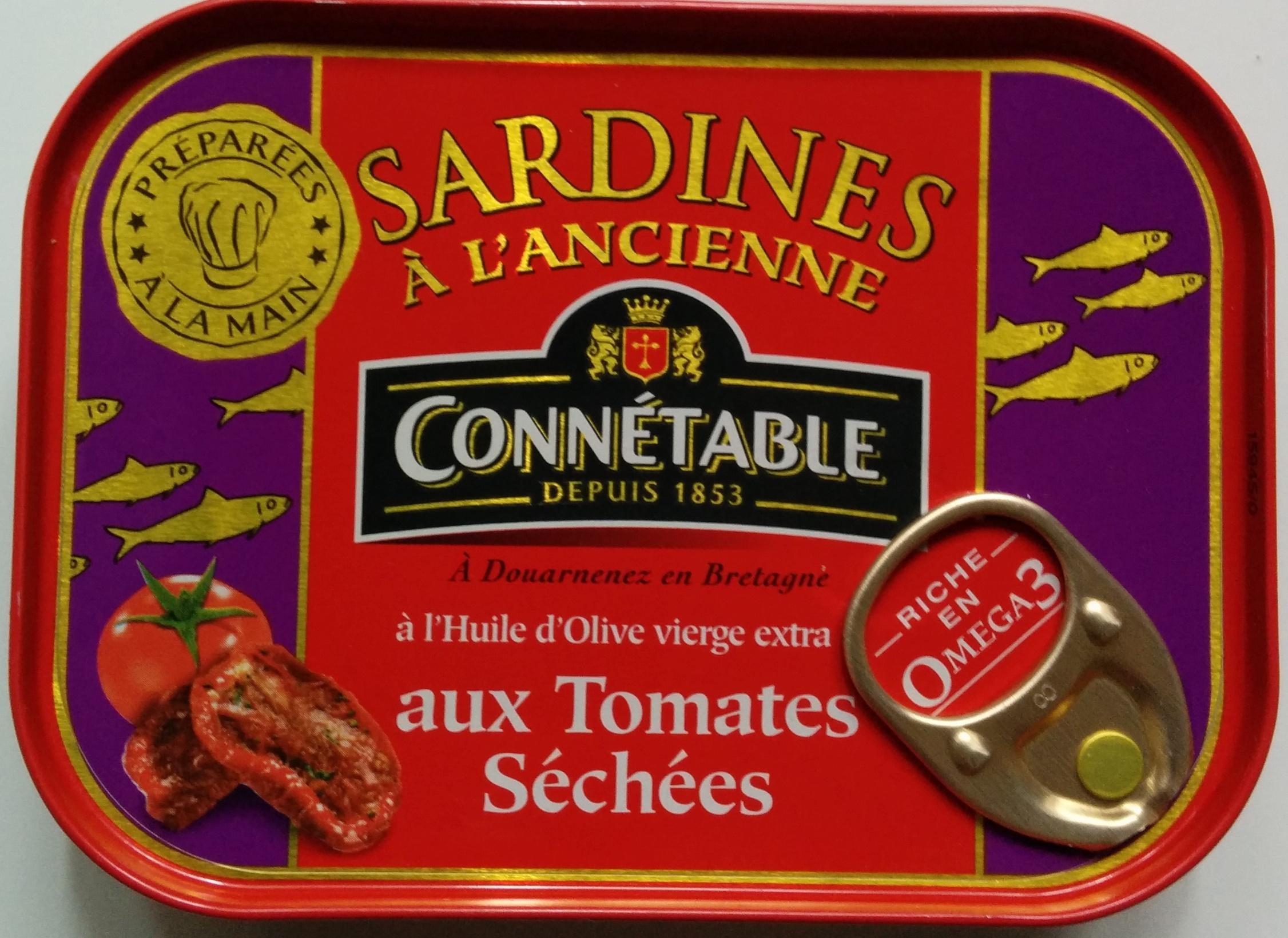 Sardines à l'Ancienne à l'Huile d'Olive vierge extra aux Tomates Séchées - 製品 - fr