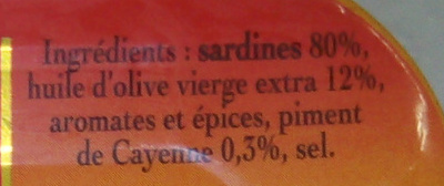 Sardine à l ancien - Ingredients