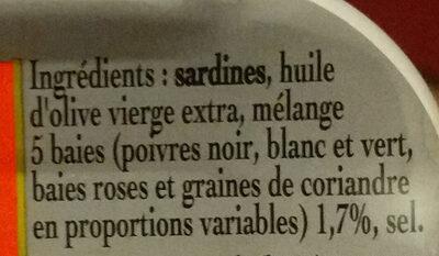 Sardines à l'ancienne aux 5 baies - Ingrédients - fr