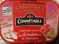Sardines à l'huile d'olive et aux échalotes de bretagne - Produit - fr