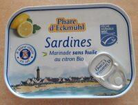 Sardines Marinade sans huile au citron Bio - Prodotto - fr