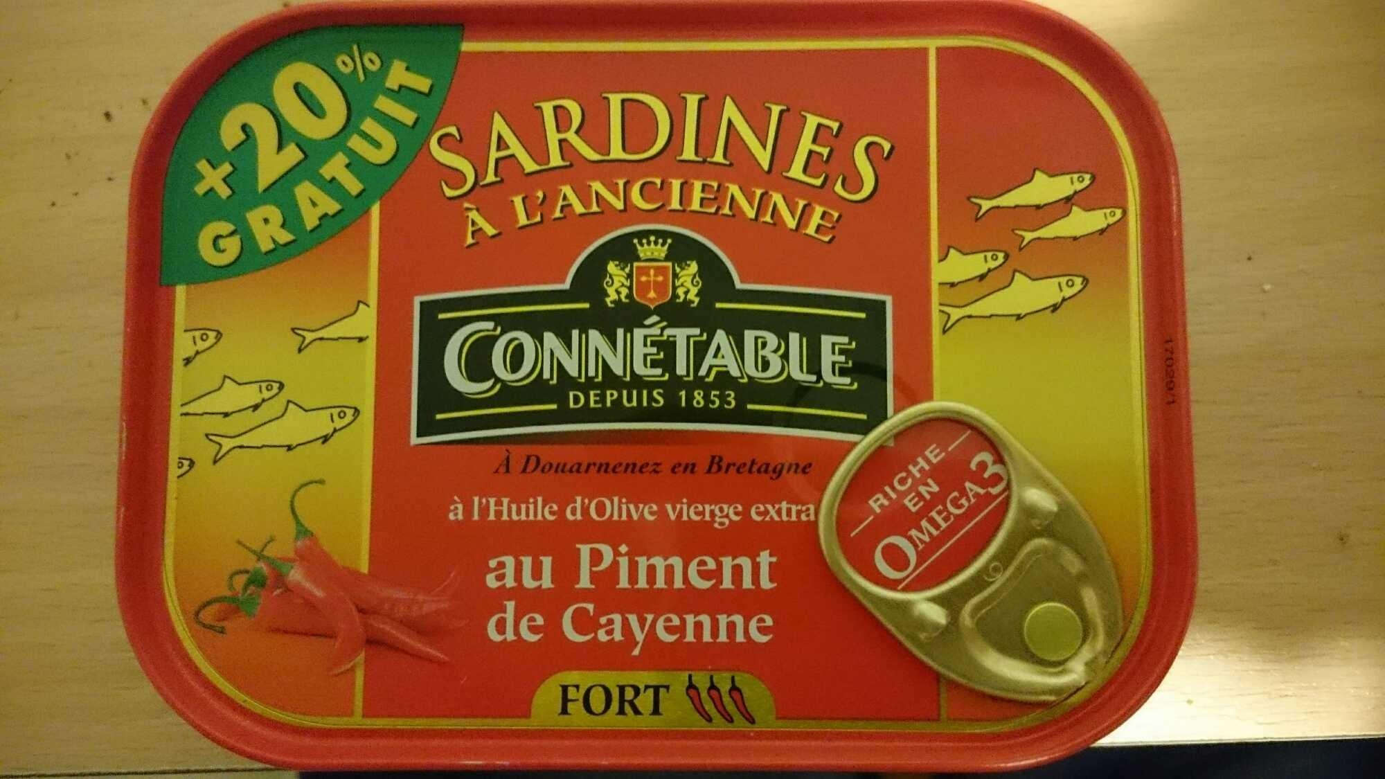 Sardines à l'ancienne au piment de Cayenne (+20% gratuit) - Produit - fr