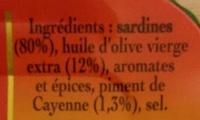 Sardines Marinade sans huile au citron Bio - Ingredienti - fr