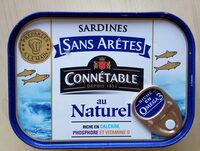 Sardines sans arêtes au naturel - Product - fr
