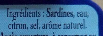 Sardines sans arêtes au naturel - Ingredients - fr