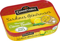 Sardines mar citron basilic sans huile 140g Cble - نتاج - fr