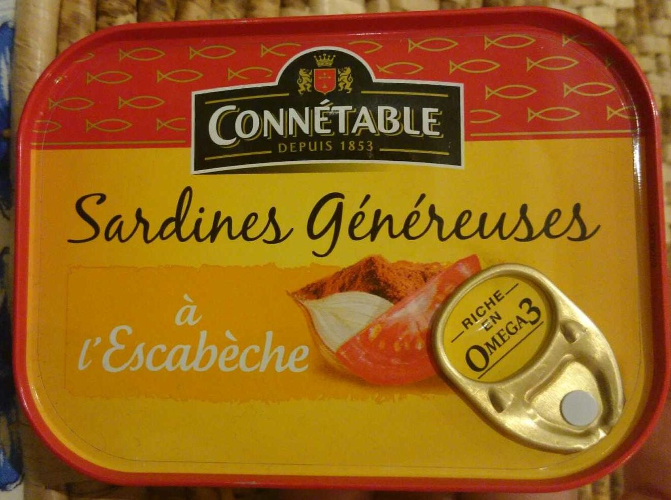 Sardines Généreuses à l'Escabèche - Produit