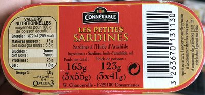 Les petites sardines - Produit