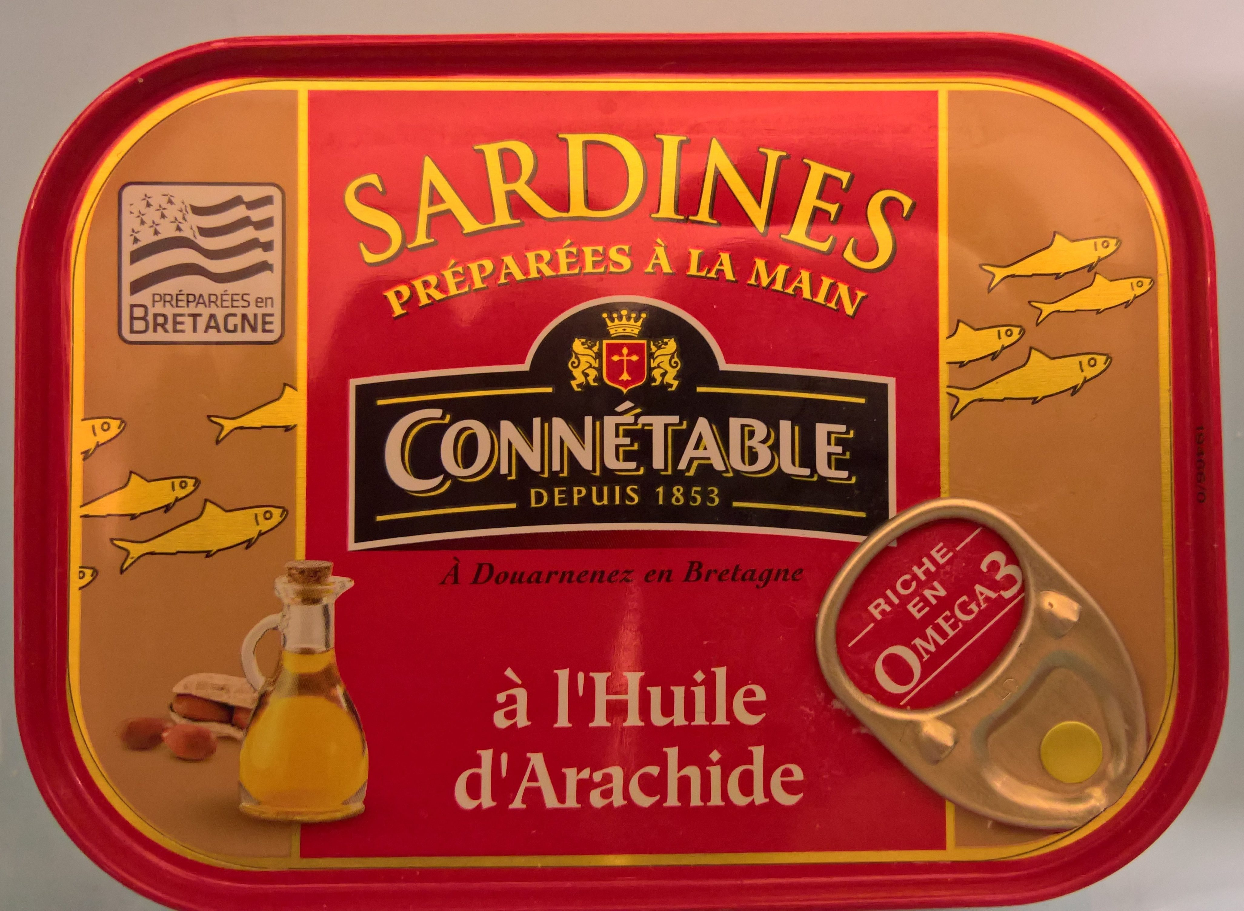 Sardines à l'huile d'arachide - Produit