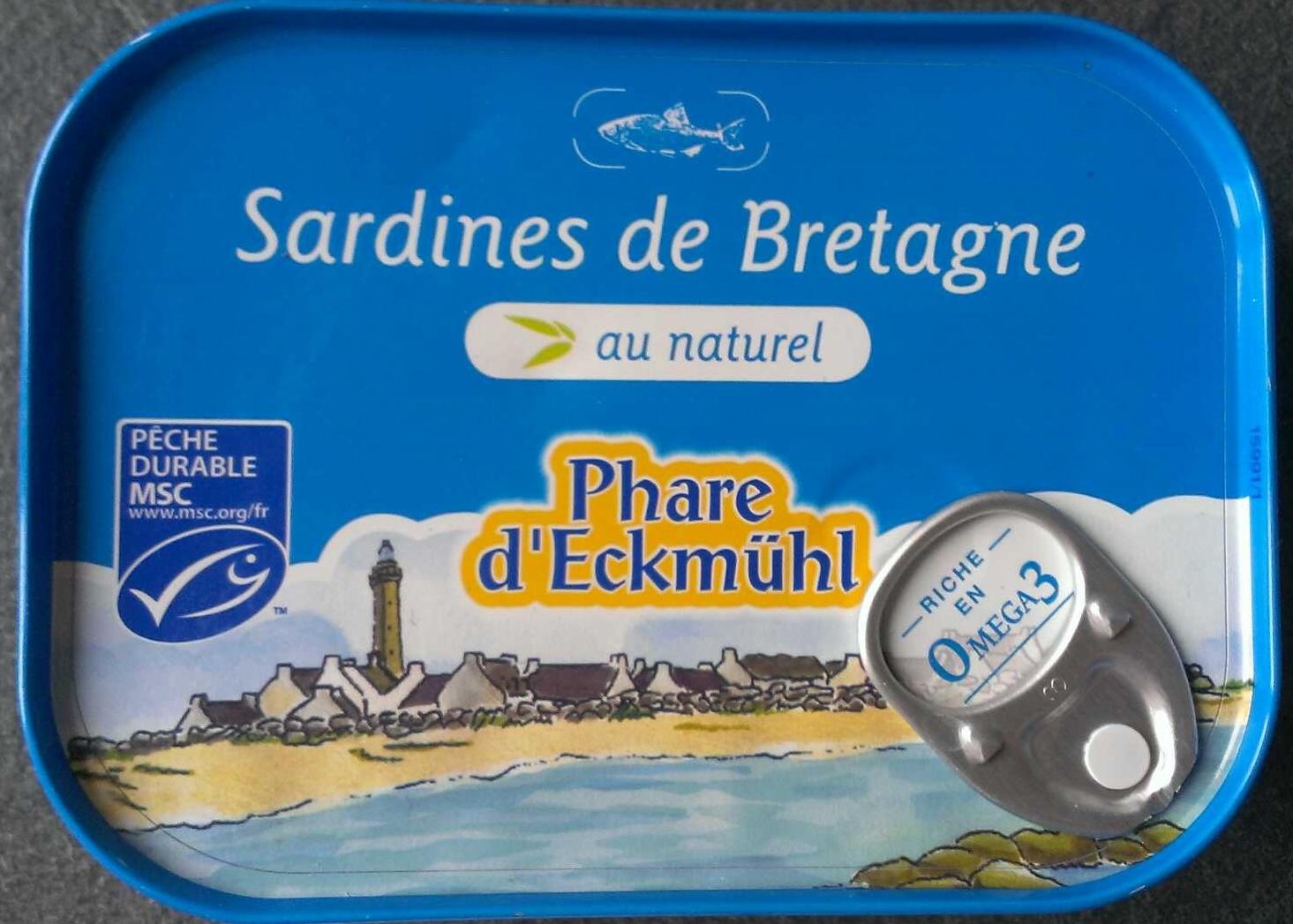 Sardines de Bretagnes au naturel - Produit