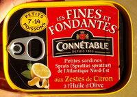 Sprats aux zestes de citron à l'huile d'olive - Produit - fr