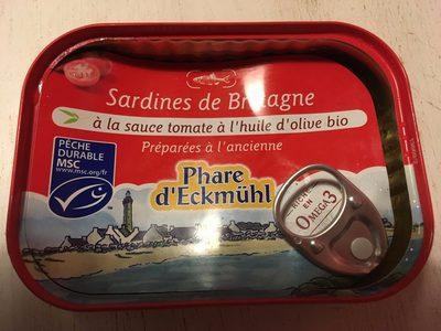 Sardines de Bretagne à la Sauce Tomate à l'Huile d'Olive Bio - Produit