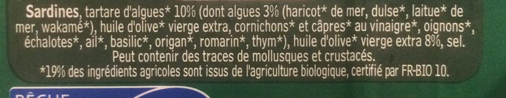 Sardines de Bretagne - Ingrédients - fr