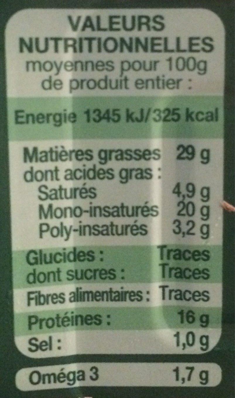 Sardines de Bretagne - Informations nutritionnelles - fr