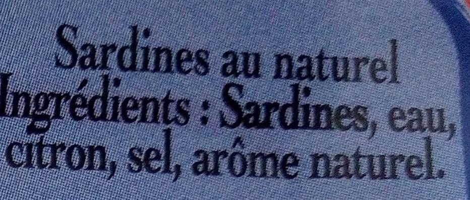 Sardine nature - Ingredienti - fr