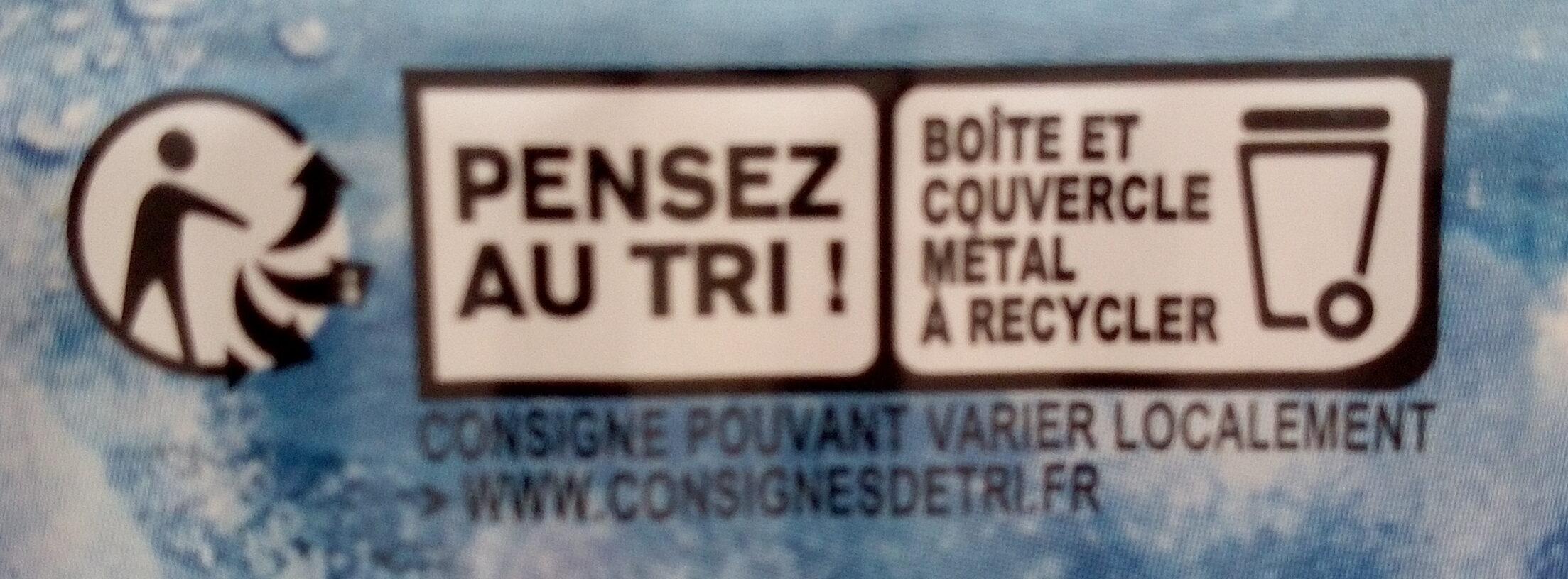 Sardine nature - Istruzioni per il riciclaggio e/o informazioni sull'imballaggio - fr