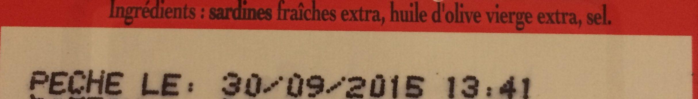 Sardines à l'Ancienne Label rouge - Ingredients