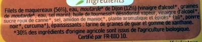 Filets de maquereaux (sauce moutarde de Dijon) Bio - Ingrédients - fr