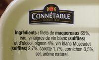 Filet de maquereaux au Muscadet et aux aromates - Ingredients