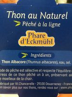 THON AU NATUREL LOT DE - Ingrédients - fr