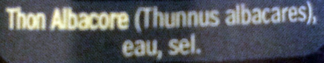 Thon Albacore au naturel pêché à la ligne - Ingredienti - fr