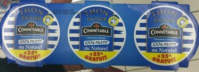 Thon entier 100% Filets au Naturel (+ 25% GRATUIT) - Produit - fr
