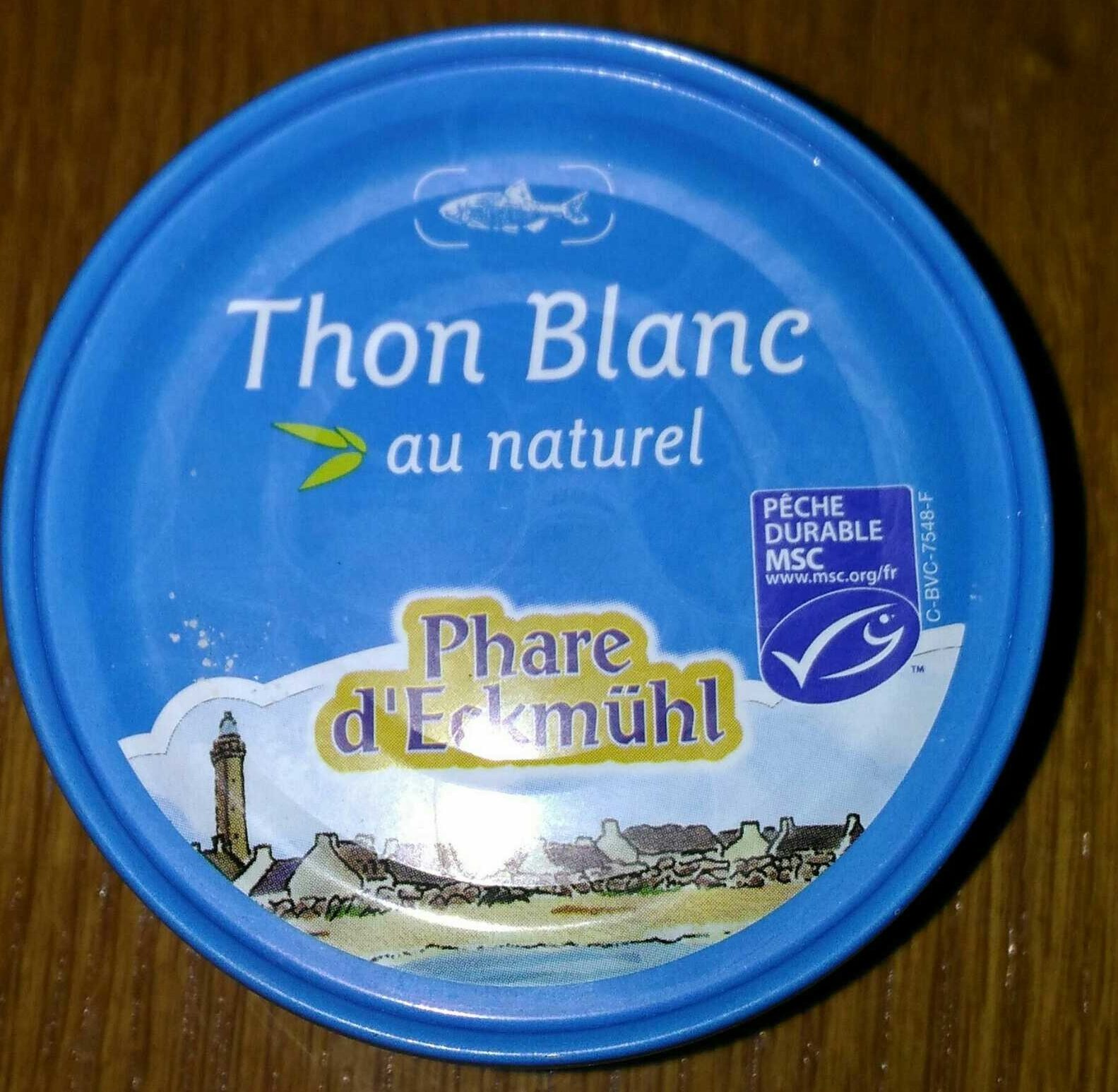 Thon blanc pêché a la ligne au naturel - Product - fr