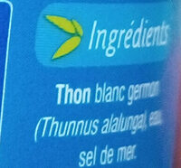 Thon Blanc Au naturel - Ingrédients