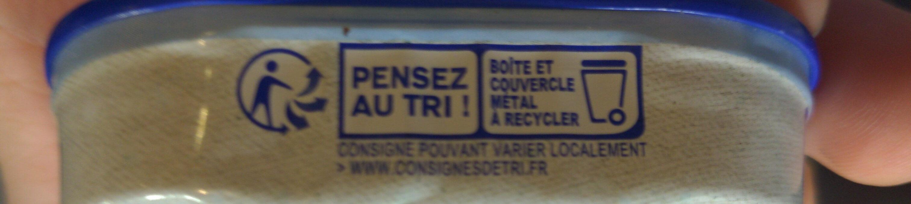 Filets de sardines - Istruzioni per il riciclaggio e/o informazioni sull'imballaggio - fr