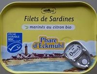 Filets de sardines marinés au citron bio - Produit - fr