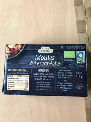 Moules à l'escabèche - Informazioni nutrizionali - fr