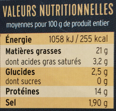 Moules à l'escabèche - Voedingswaarden