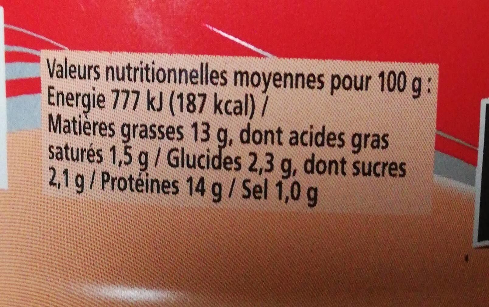 Rillettes de Saumon - Nutrition facts - en