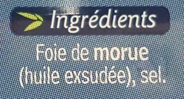 Foie de morue - Ingredients - fr